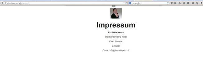 Thomas Kleitz aus der Schweiz und seine.....