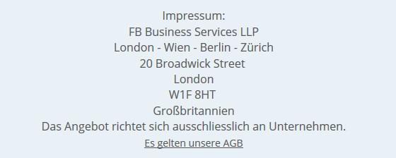 Impressum fb-mittelstand_marketing Spam