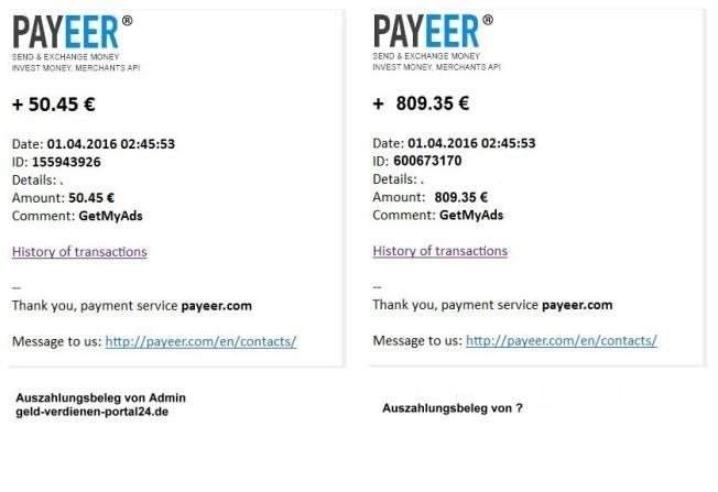 Auszahlung gefälscht?