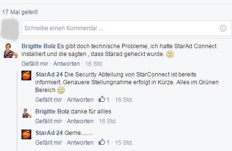 Starad24 wurde gehackt