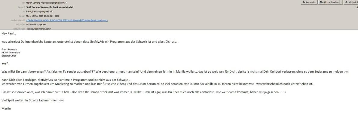 Martin Schranz nun an Pauli