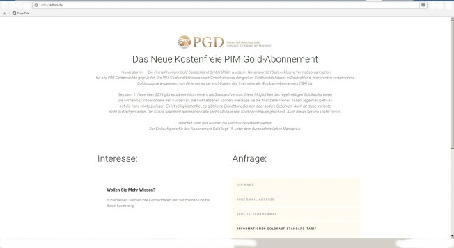 adboni.de = PIM AG = PGD