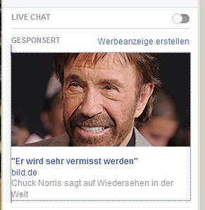 Fakewerbung mit Chuck Norris