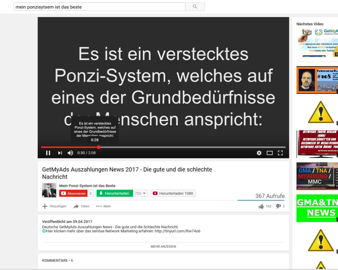 Sascha Hönisch tituliert GetMyAds als Ponzisystem