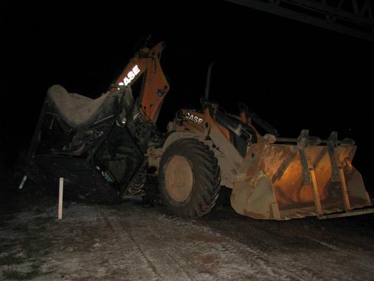Case Radlader mit abgetrennten Führerhaus